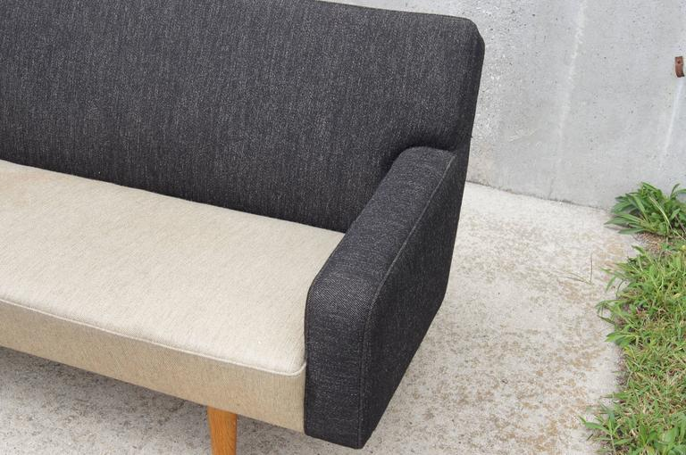Upholstery Two-Tone AP33 Sofa by Hans Wegner for A.P. Stolen For Sale