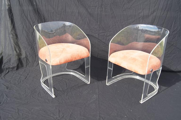 Plexiglas And Suede Lotus Chair By Vladimir Kagan 3