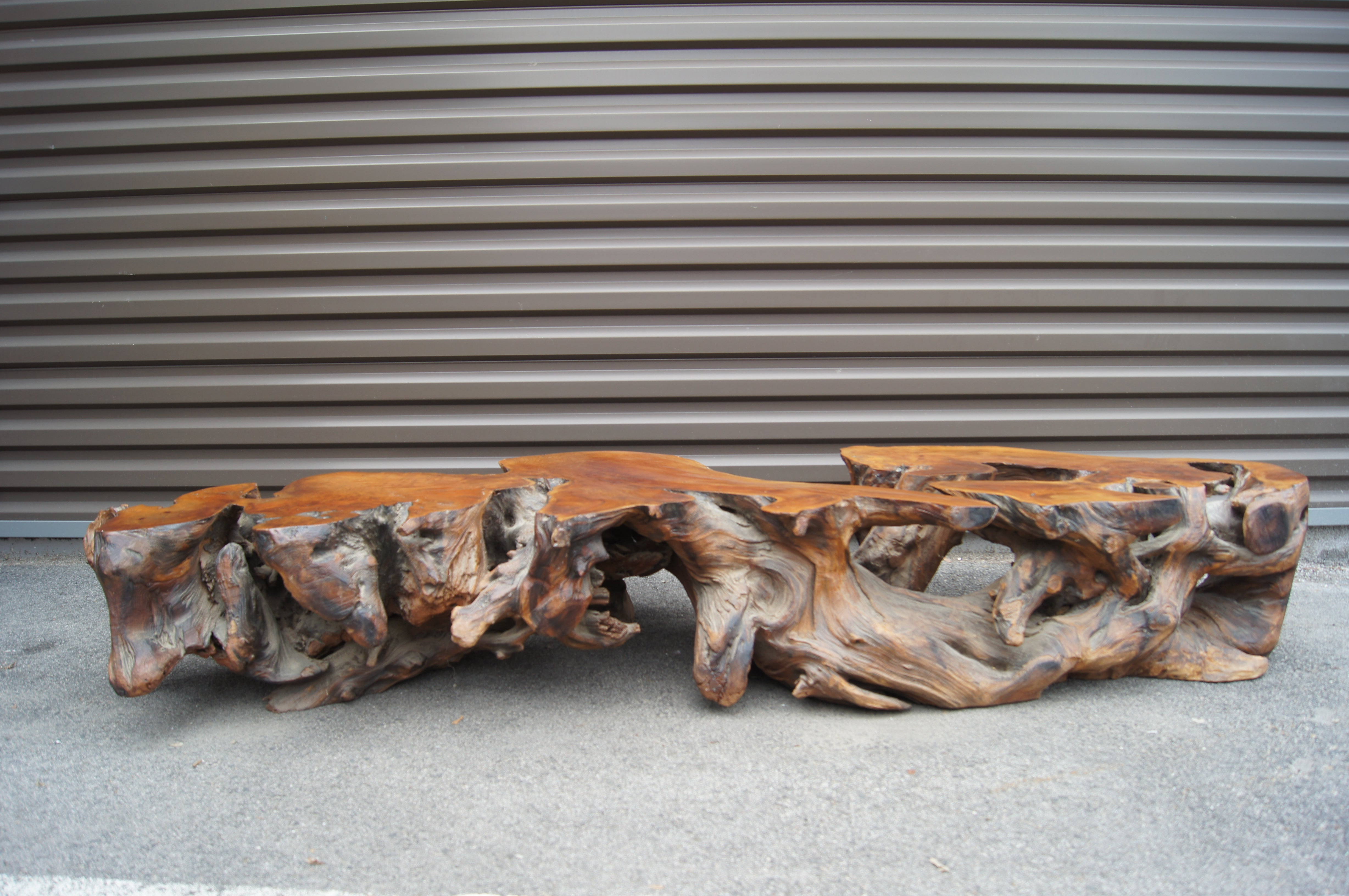 Large 1970s Driftwood Coffee Table At 1stdibs