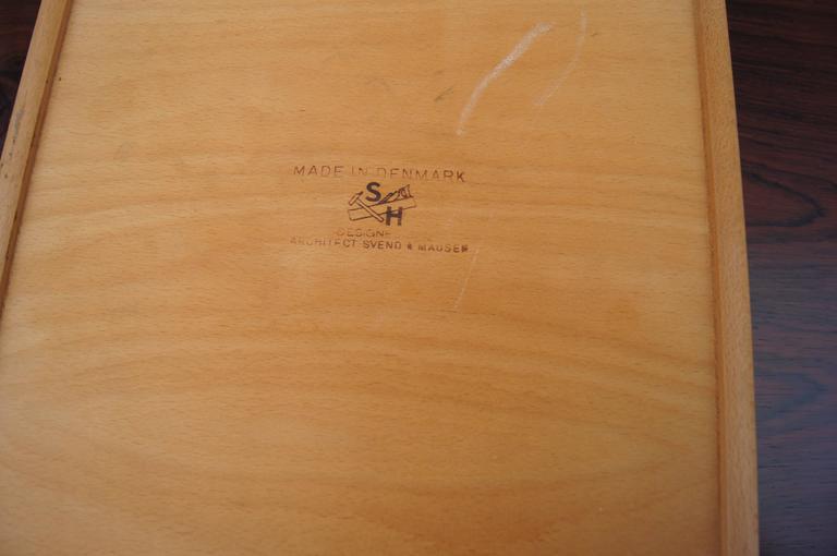 Rosewood Desk, Model SH 180, by Svend Aage Madsen for Sigurd Hansen For Sale 2