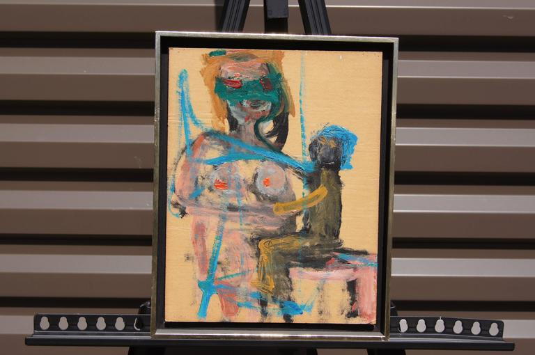 American expressionist painter Herbert brown created this small oil on board,