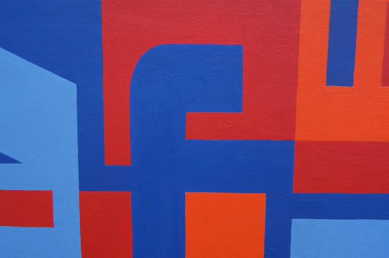 Abstract Painting by Norman Ives, 1969 In Fair Condition For Sale In Boston, MA