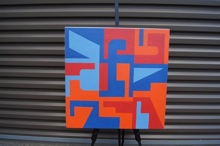 American Abstract Painting by Norman Ives, 1969 For Sale