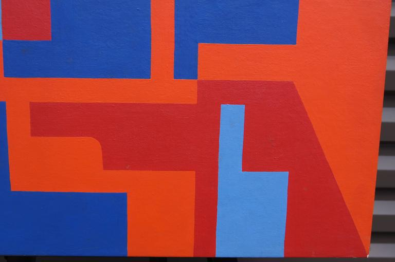 Mid-Century Modern Abstract Painting by Norman Ives, 1969 For Sale
