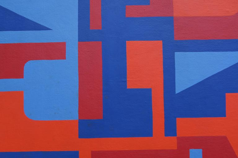 Mid-20th Century Abstract Painting by Norman Ives, 1969 For Sale