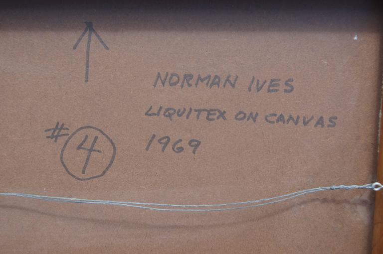 Abstract Painting by Norman Ives, 1969 For Sale 1