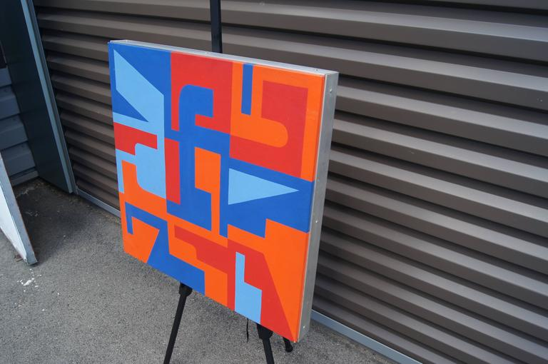Canvas Abstract Painting by Norman Ives, 1969 For Sale