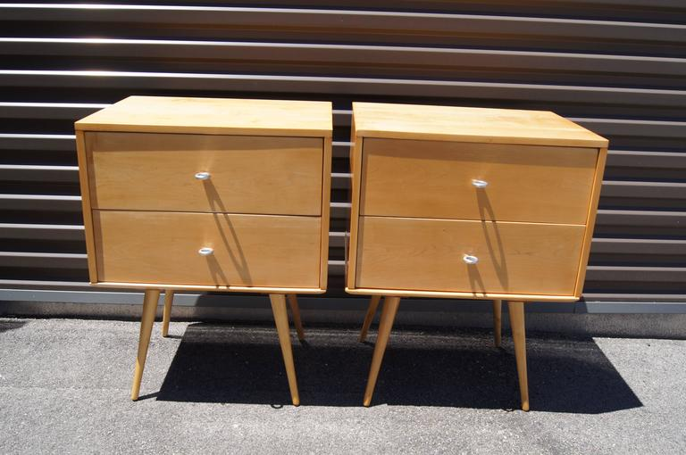 Mid-Century Modern Pair of Planner Group Nightstands by Paul McCobb for Winchendon Furniture