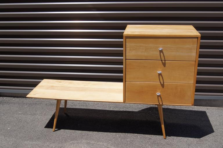 American Planner Group Three-Drawer Chest on Low Table by Paul McCobb for Winchendon  For Sale