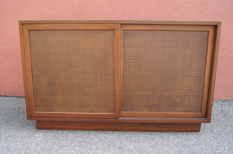 Small Cabinet with Cane Doors by Harvey Probber For Sale 1