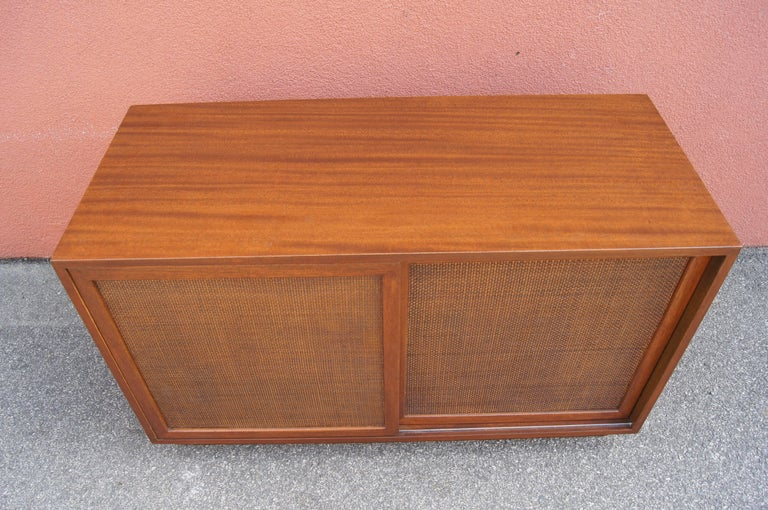 Small Cabinet with Cane Doors by Harvey Probber For Sale 2