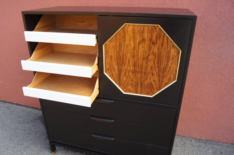 Ebonized Mahogany and Rosewood Cabinet by Harvey Probber 4