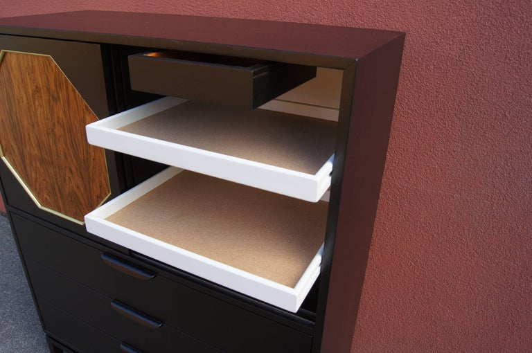 Ebonized Mahogany and Rosewood Cabinet by Harvey Probber 5