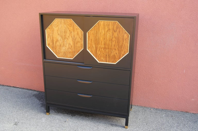 Ebonized Mahogany and Rosewood Cabinet by Harvey Probber For Sale 2
