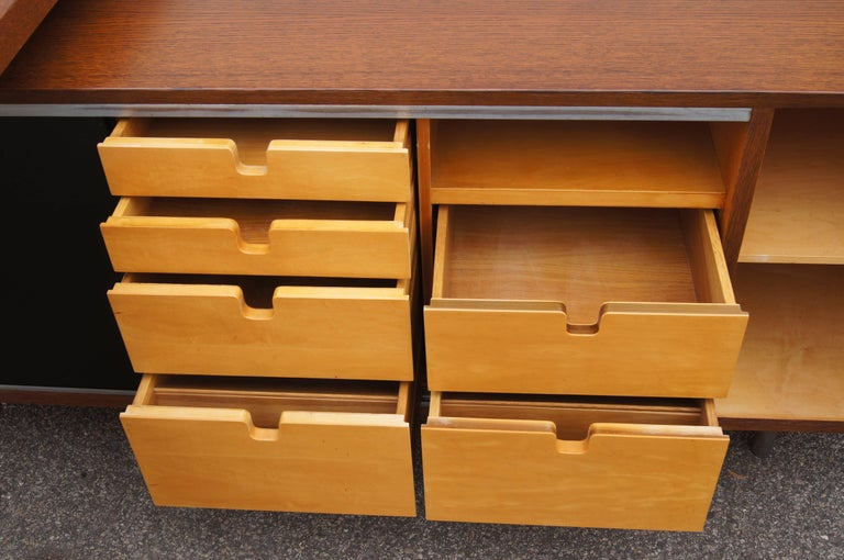 American Walnut EOG Desk with Storage Unit by George Nelson for Herman Miller For Sale