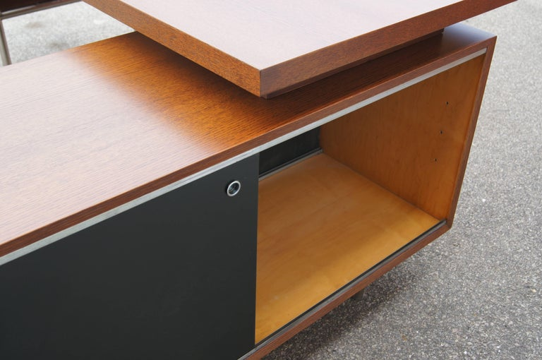Mid-20th Century Walnut EOG Desk with Storage Unit by George Nelson for Herman Miller For Sale