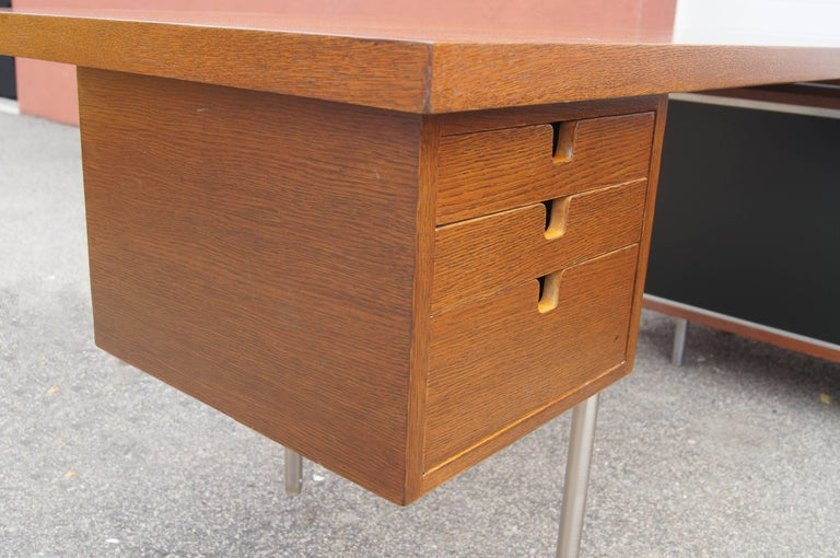 Walnut EOG Desk with Storage Unit by George Nelson for Herman Miller For Sale 2