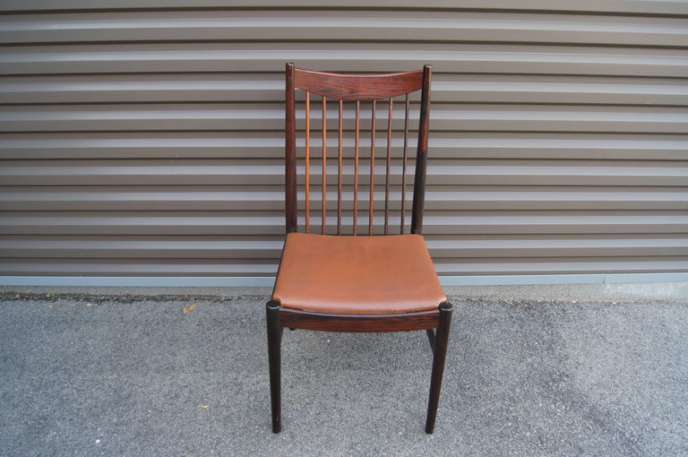 Set of Six Rosewood Dining Chairs by Arne Vodder for Sibast In Excellent Condition For Sale In Boston, MA