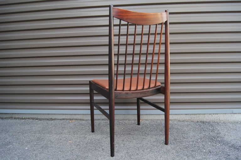 Danish Set of Six Rosewood Dining Chairs by Arne Vodder for Sibast For Sale
