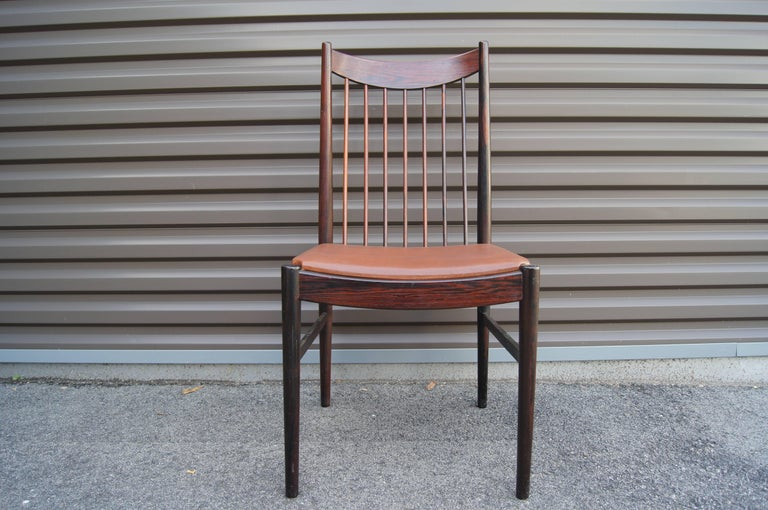 Mid-20th Century Set of Six Rosewood Dining Chairs by Arne Vodder for Sibast For Sale