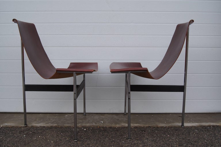 American Pair of T Side Chairs by Katavolos, Littell & Kelley for Laverne International For Sale