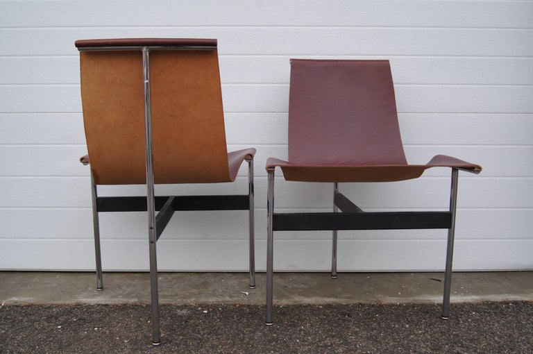 Mid-Century Modern Pair of T Side Chairs by Katavolos, Littell & Kelley for Laverne International For Sale