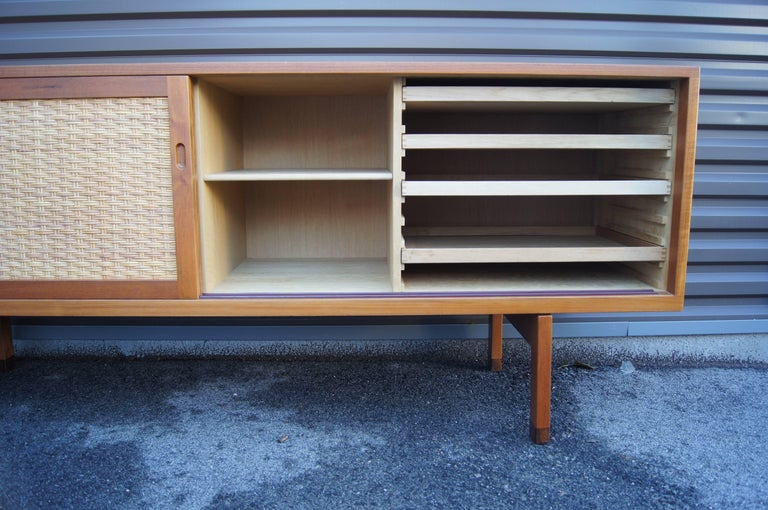 Oak and Rattan Sideboard, Model RY 26 by Hans Wegner for Ry Mobler For Sale at 1stdibs