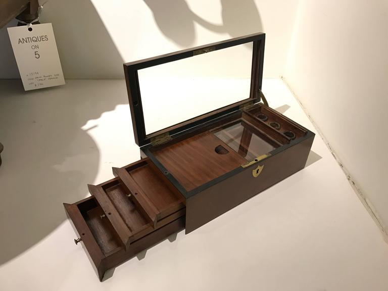 English 19th Century Mahogany Document Box For Sale