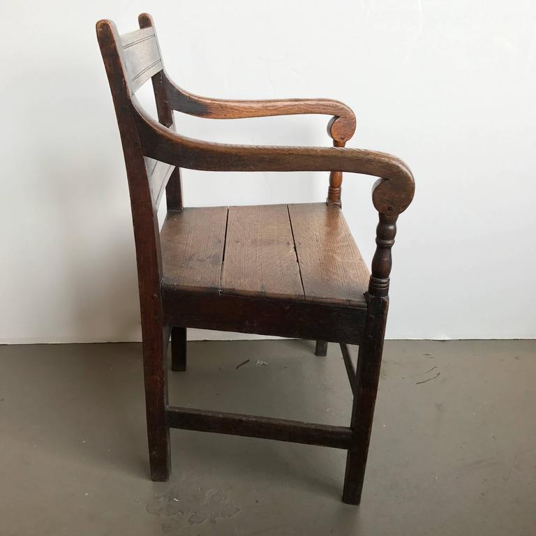 19th Century English Oak Armchair 3