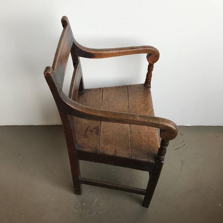 19th Century English Oak Armchair 5