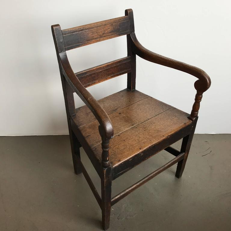 19th Century English Oak Armchair 2
