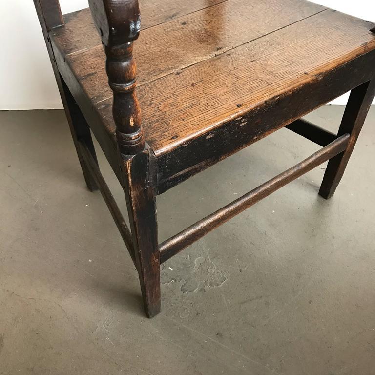 19th Century English Oak Armchair 8