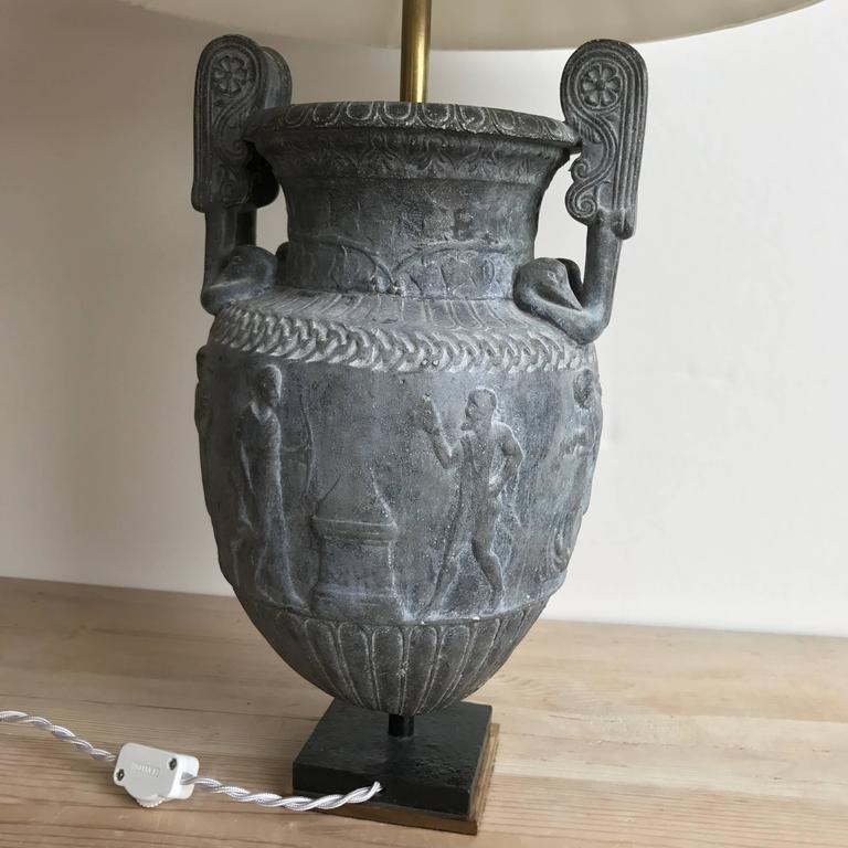 19th Century Metal Urn Lamp For Sale 3
