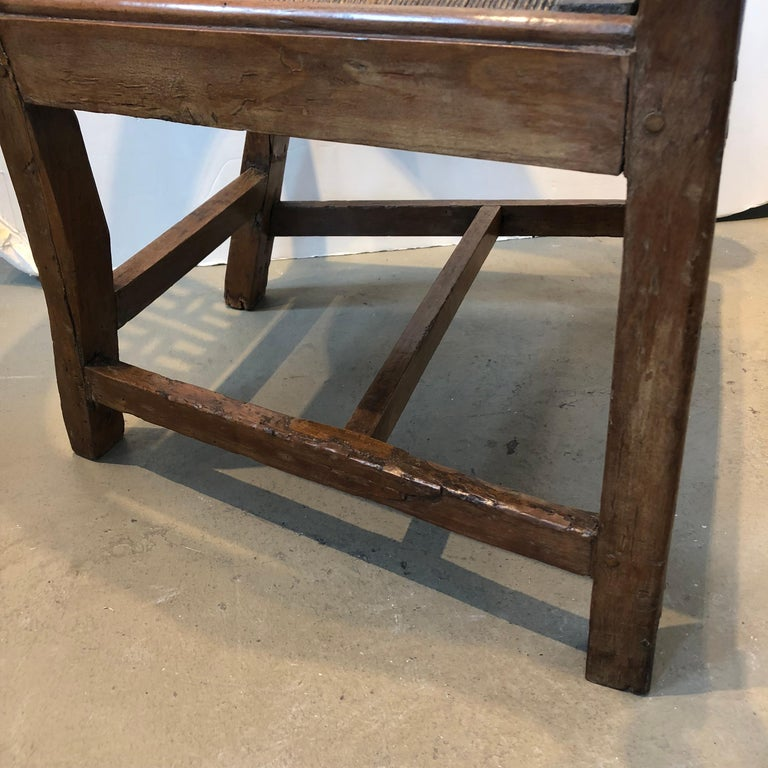 18th Century Italian Fruitwood Corner Armchair For Sale 3