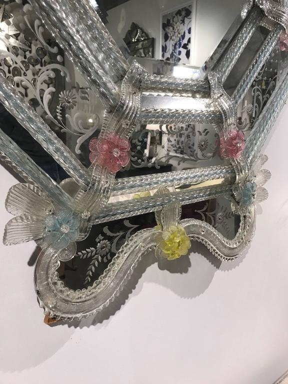 19th Century Venetian Mirror In Excellent Condition For Sale In Boston, MA