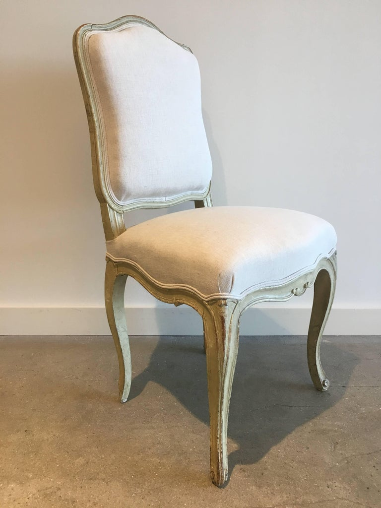 Set of Six 19th Century Louis XV Dining Chairs For Sale 1