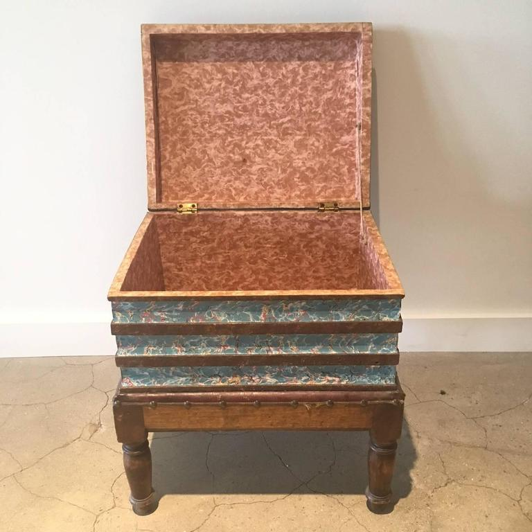 19th century faux book chest or end table.