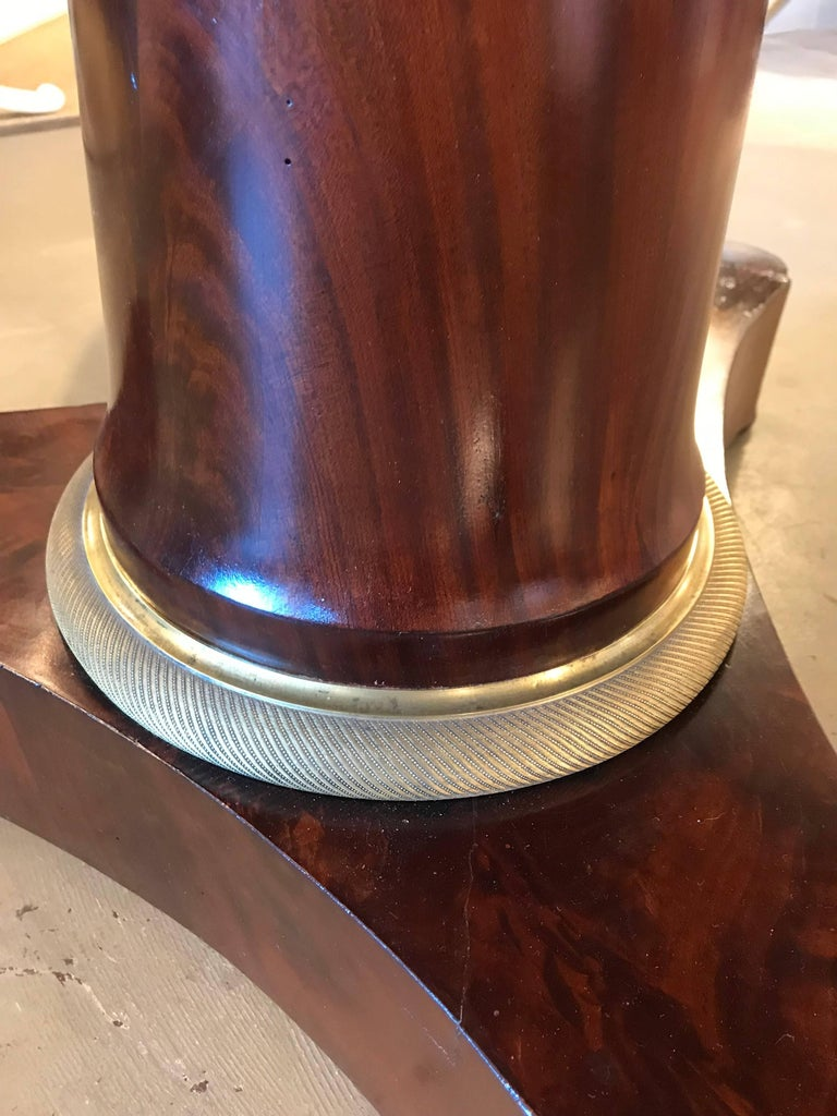 Veneer First Quarter of the 19th Century French Empire Pedestal Table For Sale