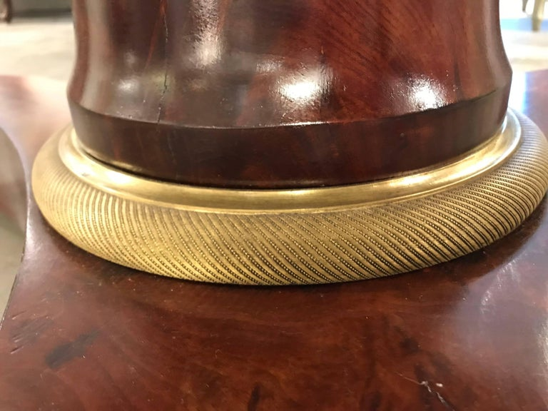 First Quarter of the 19th Century French Empire Pedestal Table In Excellent Condition For Sale In Boston, MA