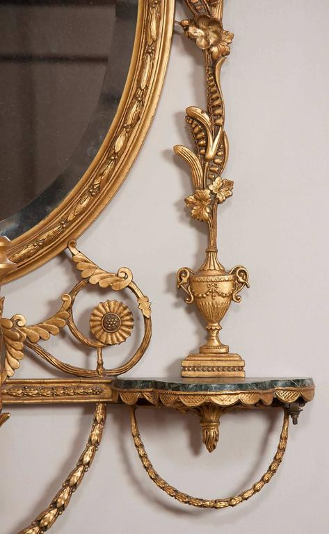 19th Century George III Style Giltwood Girandole Mirror For Sale