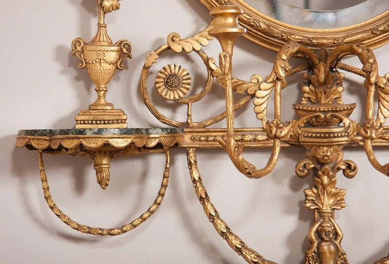 George III Style Giltwood Girandole Mirror For Sale 3