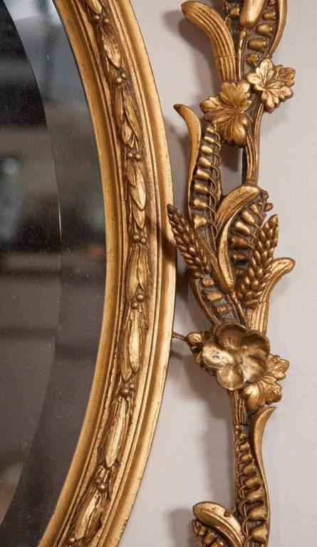 George III Style Giltwood Girandole Mirror For Sale 4