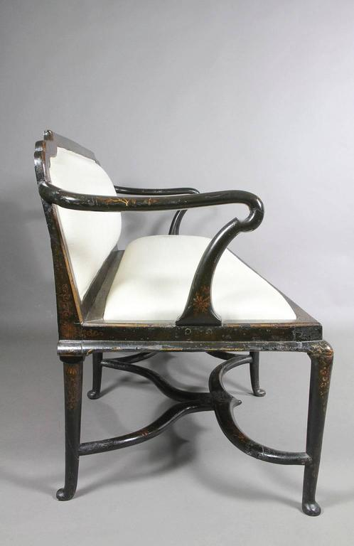Early 18th Century Queen Anne Japanned Settee