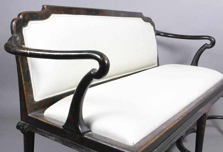 English Queen Anne Japanned Settee