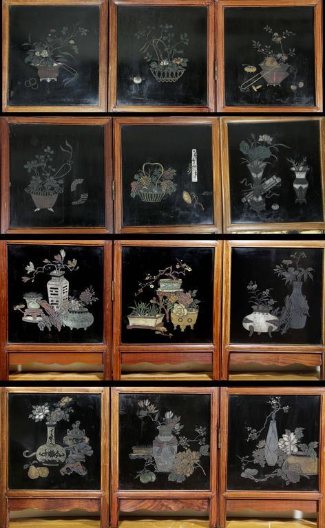 Chinese Coromandel Six-Panel Screen 1