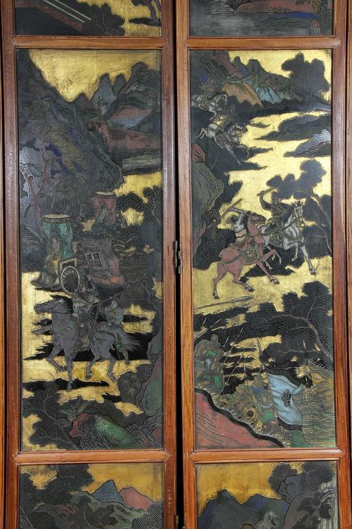 Chinese Coromandel Six-Panel Screen 4