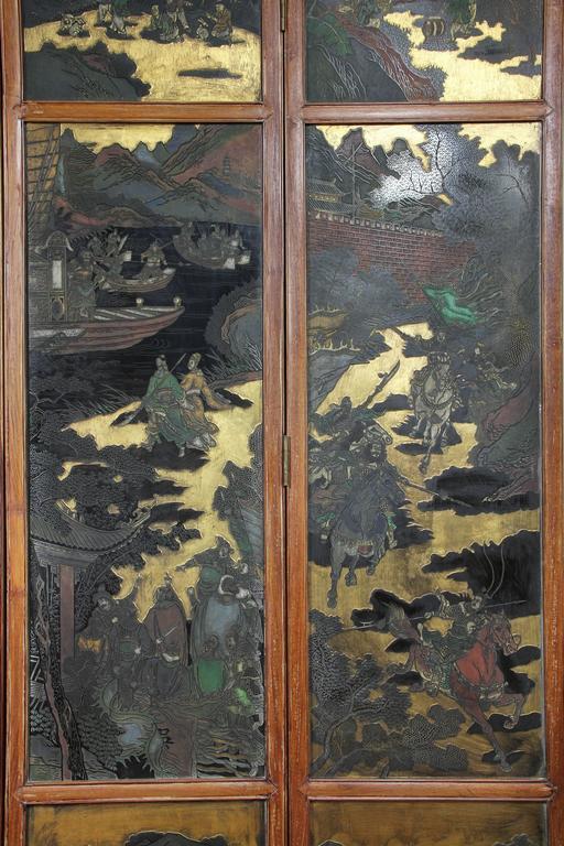 Chinese Coromandel Six-Panel Screen 5