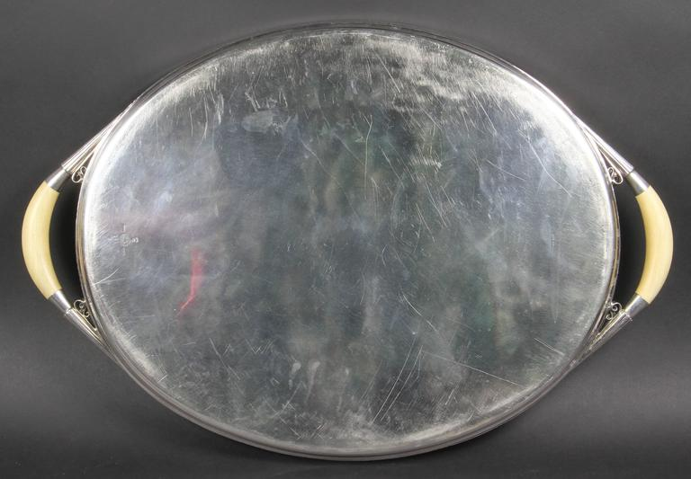Mid-20th Century Georg Jensen Sterling Silver Tray For Sale
