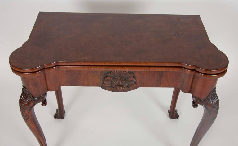 George I Walnut Games Table For Sale 1