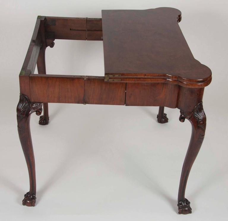George I Walnut Games Table For Sale 3